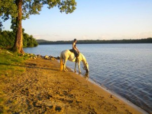 Riding at Wheeler National Wildlife Refuge on the banks of the Tennessee River