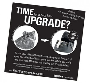EasyCare hoof boot upgrade flyer