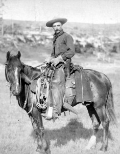 vintage photo cowboy on horseback